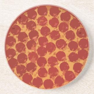 Pizza de salchichones posavasos de arenisca