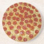 Pizza de salchichones posavasos manualidades