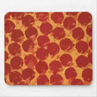 Pizza de salchichones alfombrillas de ratones
