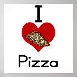 Pizza del amor-corazón I Poster