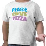 Pizza del amor de la paz camisetas