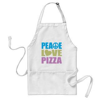 Pizza del amor de la paz delantales