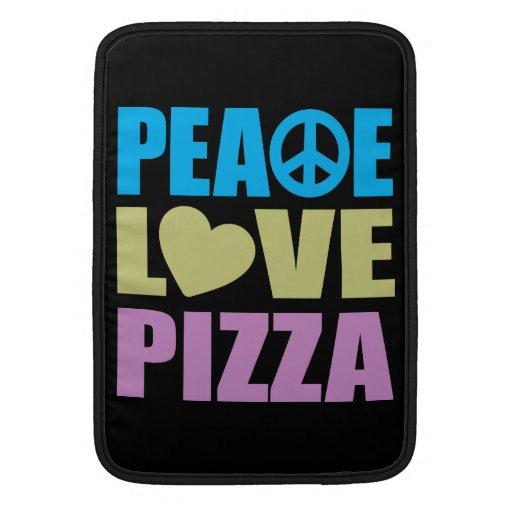 Pizza del amor de la paz funda macbook air