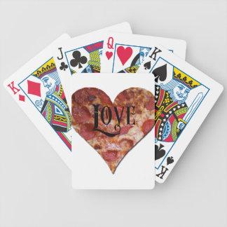 Pizza del amor de la tarjeta del día de San Baraja De Cartas Bicycle
