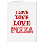 Pizza del amor del amor felicitaciones