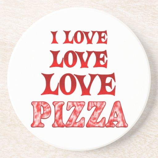 Pizza del amor del amor posavasos para bebidas
