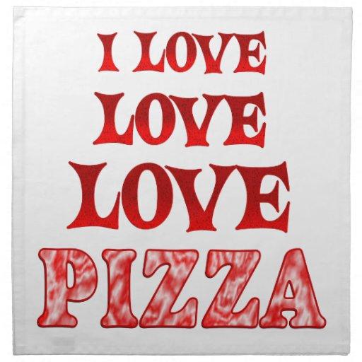 Pizza del amor del amor servilleta