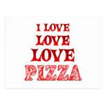 Pizza del amor del amor tarjetas postales