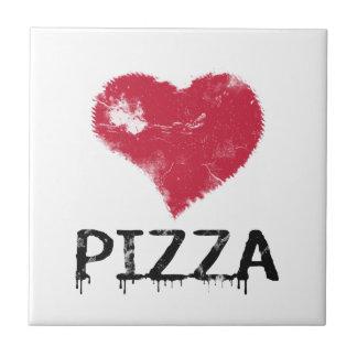 Pizza del amor - la pizza es amor, pizza es vida azulejo cuadrado pequeño