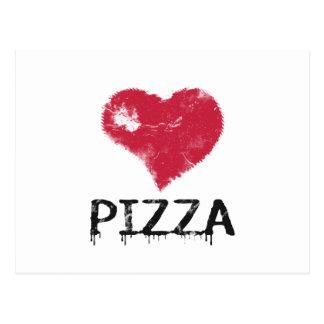 Pizza del amor - la pizza es amor, pizza es vida postal
