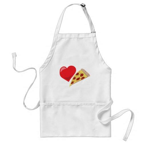 ¡Pizza del amor!  Personalizable: Delantal