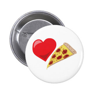 ¡Pizza del amor!  Personalizable: Pins