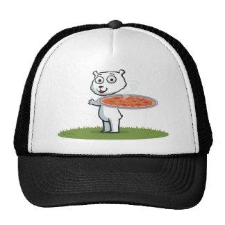 Pizza del oso polar gorros bordados