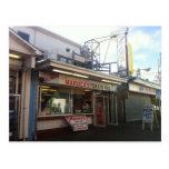 Pizza del paseo marítimo del parque de playa postal