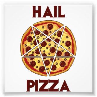 Pizza del saludo cojinete