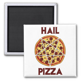 Pizza del saludo iman de nevera