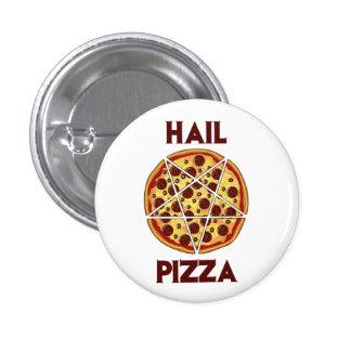 Pizza del saludo pin redondo de 1 pulgada