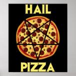 Pizza del saludo posters