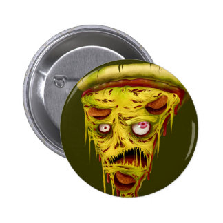 pizza del _zombie pin redondo de 2 pulgadas