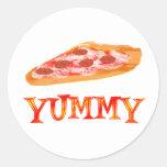 Pizza deliciosa etiquetas