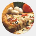 Pizza deliciosa pegatinas