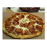 Pizza deliciosa postal