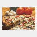 Pizza deliciosa toallas