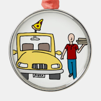 Pizza Delivery Driver Metal Ornament