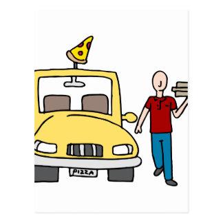 Pizza Delivery Driver Postcard