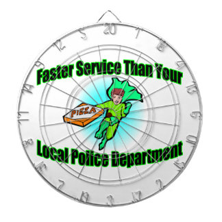 Pizza Delivery Faster Than Police Dartboard