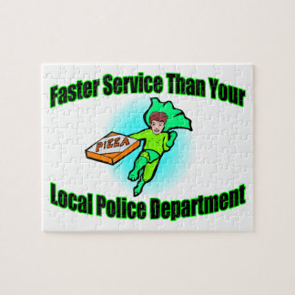 Pizza Delivery Faster Than Police Jigsaw Puzzle