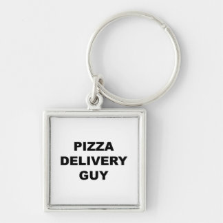 Pizza Delivery Guy Keychain