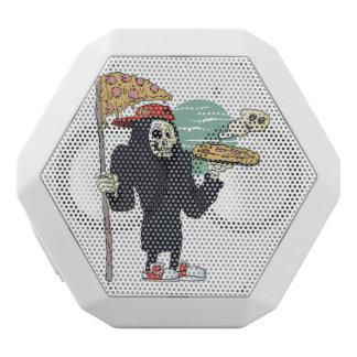 Pizza delivery reaper grim white bluetooth speaker