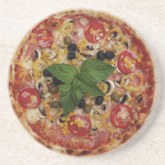 Pizza Deluxe Sandstone Drink Coaster
