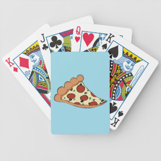 Pizza design bicycle playing cards