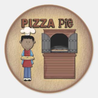Pizza Design Classic Round Sticker