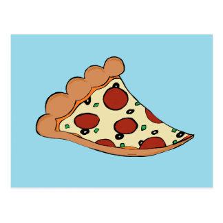 Pizza design postcard