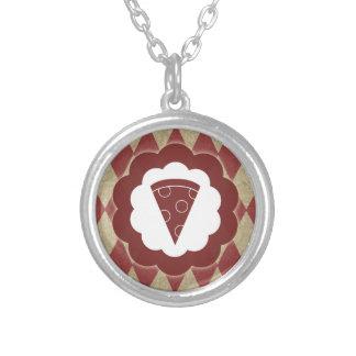 pizza diamonds necklace