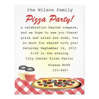 Pizza Dinner Personalized Invitations