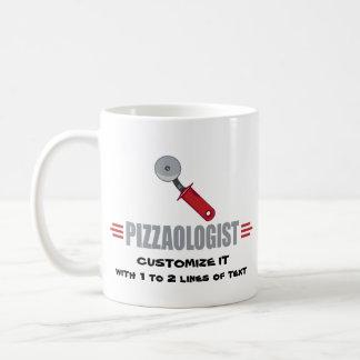 Pizza divertida del amor de I Taza Básica Blanca