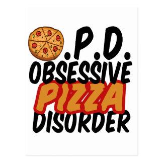 Pizza divertida tarjetas postales