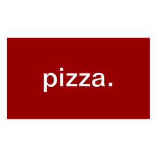 Pizza Double-Sided Standard Business Cards (Pack Of 100)