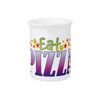 Pizza Eat Beverage Pitcher