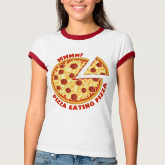 Pizza Eating Pizza! ( light shirt) T-Shirt