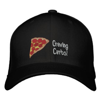Pizza Embroidered Cap- You Can Edit The Text Cap