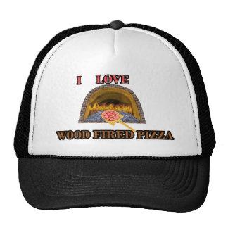 pizza encendida madera gorros