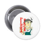 """""""Pizza Face"""" Pinback Buttons"""