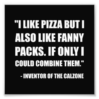 Pizza Fanny Pack Calzone Photo Print