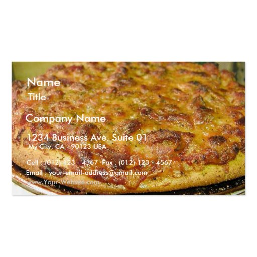 Pizza For Dinner Business Card