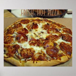 PIZZA FRESH HOT ART POSTER